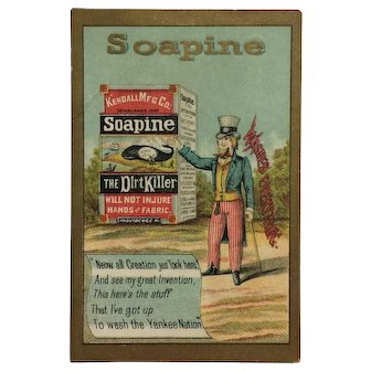 Uncle Sam And Soapine Trade Card
