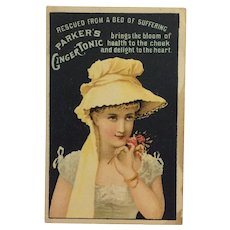 Parker's Ginger Tonic Tradecard