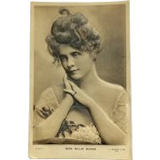 Beautiful Billie Burke- Bas Relief Postcard