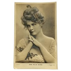 Beautiful Billie Burke- Bas Relief Postcard