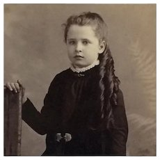 Cabinet Card- Beautiful Girl With Long Curls