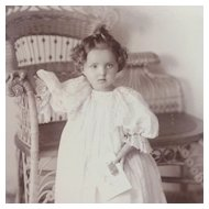 Cabinet Card- Darling Victorian Little Girl