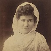 Cabinet Card- Texas Lady In Lace