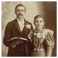 Cabinet Card- Wedding Couple
