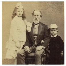 CDV-Victorian Girl And Boy In Hats