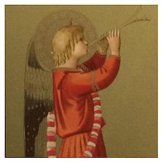 Fra Angelico's Musical Angel Postcard