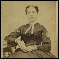 Civil War Era Woman Carte De Visite