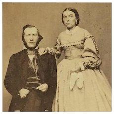 CDV- Civil War Era Couple