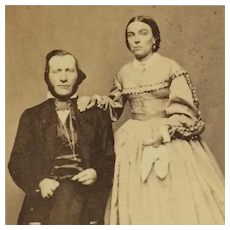 CDV- Civil War Era Couple