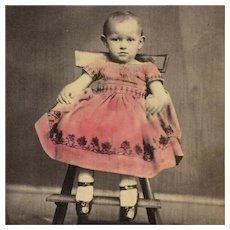 CDV- CWE Toddler- Tinted Dress And Tax Stamp