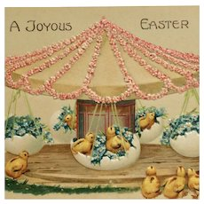 Easter Chicks On Eggshell Merry Go Round