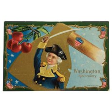 George Washington And Bravery Postcard