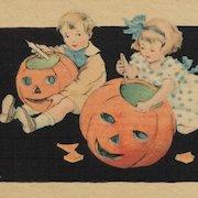 Halloween Duo And Pumpkins