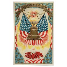 Let Freedom Ring Patriotic Postcard