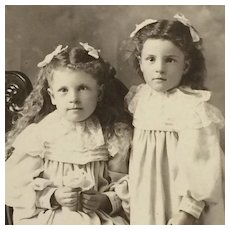 Cabinet Card- Two Darling Girls