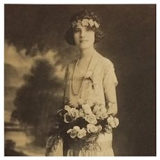 Photograph Of Lovely '20's Beauty