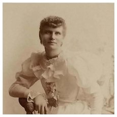 Cabinet Card- Lovely Victorian Lady In White