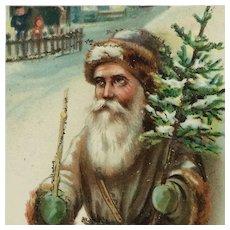 Old World Santa With Christmas Tree