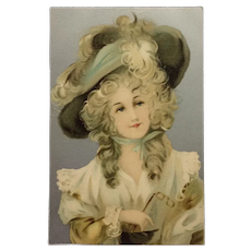 17th Century Beauty With Lorgnette