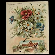 Woolson Spice Shadow Card - Martha Washington