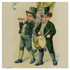 St Patrick's Day Parade Celebration Postcard