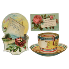 Lot Of 3 Trade Cards- Sweets And Tea