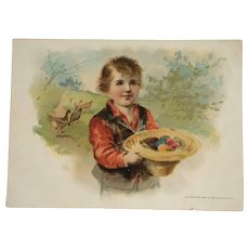 Trade Card- Large Woolson Spice Company Easter Greetings