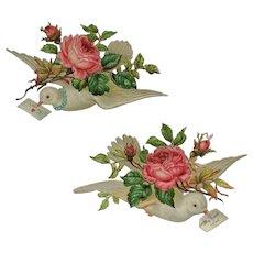 Two Valentine's Love Birds- Die Cut Scrap