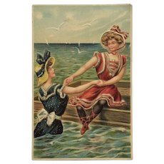 Bathing Beauties Summer Fun Postcard