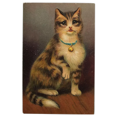 Miss Kitty With Collar And Bell Postcard
