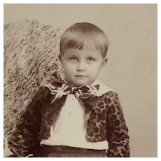 Cabinet Card- Sweet Toddler With Floral Jacket