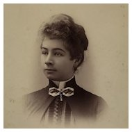 Cabinet Card- Victorian Lady With Striking Brooch