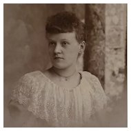Cabinet Card- Lovely Lady In Lace