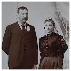 Cabinet Card- Poor Kate With Ornery Husband