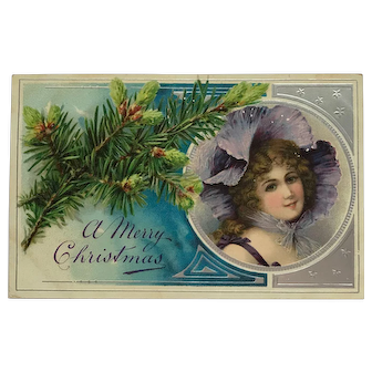 Christmas Beauty In Lavender Hat