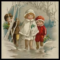 Children's Christmas In Woods- Ellen Clapsaddle