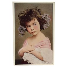 Beautiful Flower Child Postcard