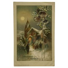 Christmas Eve Church Postcard
