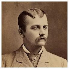 CDV- Dapper Young Man With Unusual Hair Wave