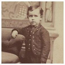 Carte De Visite- Darling Boy In Waco, Texas