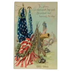 Decoration Day Civil War Remembrance Postcard