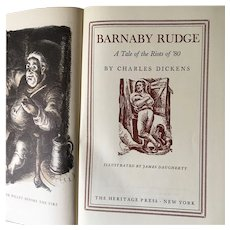 Barnaby Rudge by Charles Dickens-Heritage Press 1941