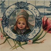 Pretty Dutch Girl Postcard