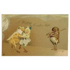 Tuck's Comic Easter Chicks And Violinist