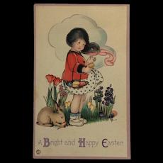 Girl With Easter Basket- Margaret Evans Price