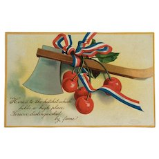 Washington's Birthday Postcard With Cherries