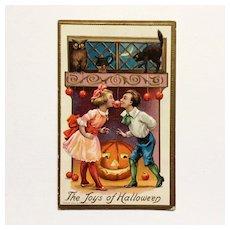 The Joys Of Halloween Postcard