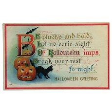 Be Plucky Halloween Postcard