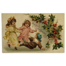 Christmas Play Time Postcard