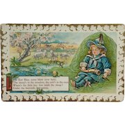 Little Boy Blue Postcard